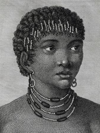 Housouana Woman, Engraving from Travels into Interior of Africa Via Cape of Good Hope