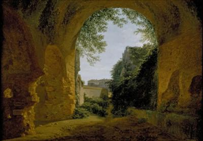 A View of a Garden, Seen from Within a Roman Vault, 1802 - 1824 by Francois-Marius Granet