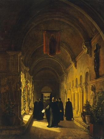 Abelard in Cloister, 1820-1830 by Francois-Marius Granet