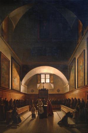 Choir of the Capuchin Church in Rome by Francois-Marius Granet