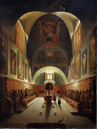 Interior of the Church of Capuchines in Rome, Late 18th or 19th Century by Francois-Marius Granet
