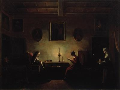 Scene in an Interior, 19th Century by Francois-Marius Granet