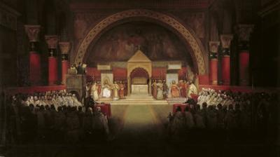The Chapter Assembly of the Templars by Francois-Marius Granet