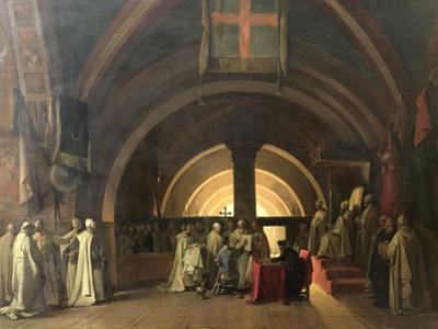 The Inauguration of Jacques de Molay into the Order of Knights Templar in 1295 by Francois-Marius Granet