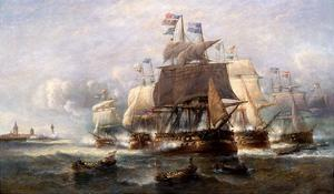 A Naval Engagement by Francois Musin