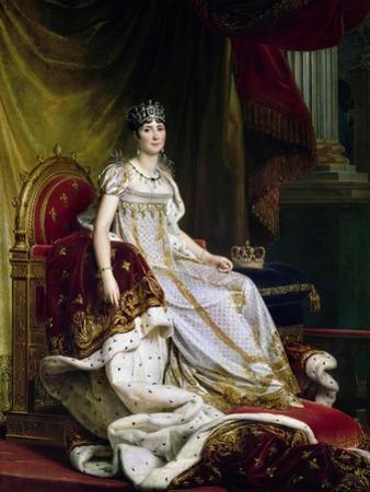 Joséphine De Beauharnais, the First Wife of Napoléon Bonaparte in Coronation Costume, 1807-1808 by François Pascal Simon Gérard