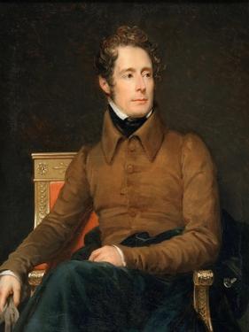 Portrait of Alphonse-Marie-Louis De Prat De Lamartine by François Pascal Simon Gérard
