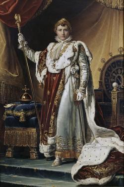 Portrait of Emperor Napoléon I Bonaparte (1769-182) in His Coronation Robes, Ca 1804 by François Pascal Simon Gérard