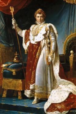 Portrait of Emperor Napoléon I Bonaparte (1769-182) in His Coronation Robes by François Pascal Simon Gérard