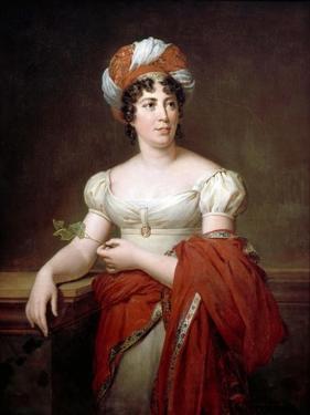 Portrait of the Author Baronne Anne Louise Germaine De Staël (1766-181) by François Pascal Simon Gérard