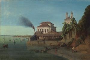 Solar Do Unhao, with the Church of N. S. De Conceicao Da Praia, Salvador Da Bahia by Francois Rene Moreaux