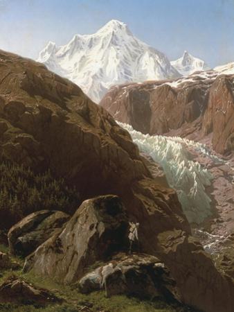 The Gorner Glacier and Zermatt Valley, Switzerland