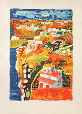Paysage méditerranéen by Francois Szulman