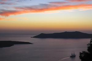 Sunset on the Caldeira of Santorini, Greece by Françoise Gaujour