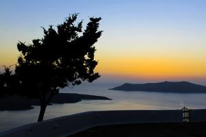 View of the Caldeira, Santorini, Greece by Françoise Gaujour