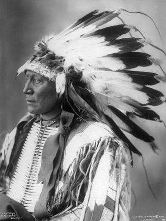 Chief Hollow Horn Bear, Sioux, 1898 by Frank A. Rinehart