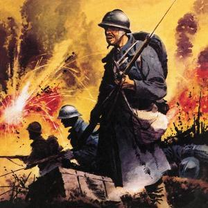 The Story of World War One: No Retreat -- the Battle Call at Verdun by Frank Bellamy