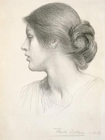 Beatrice Stuart, 1912 (Pencil on Paper) by Frank Bernard Dicksee