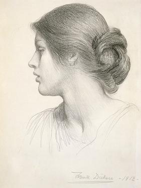 Beatrice Stuart, 1912 (Pencil on Paper) by Frank Bernard Dicksee