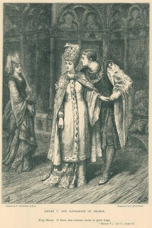 Illustration for Shakespeare's King Henry V by Frank Bernard Dicksee