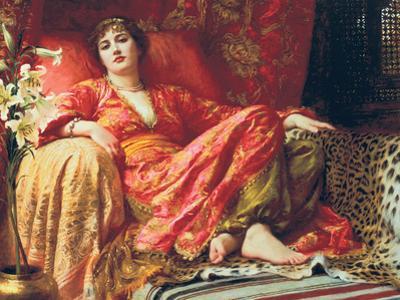 Leila, 1892 by Frank Bernard Dicksee