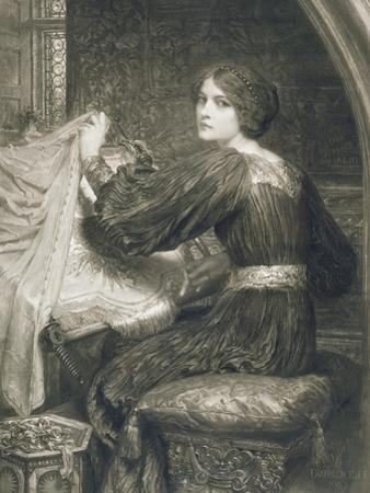 Penelope, Engraved by Norman Hirst (1862-C.1955) Pub. by Frost and Reed, 1903 (Mezzotint) by Frank Bernard Dicksee