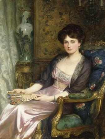 Portrait of a Lady Said to Be the Artist's Wife, 1911 by Frank Bernard Dicksee