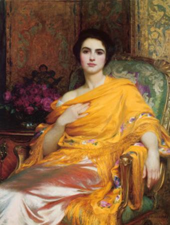 Portrait of Elsa, Daughter of William Hall, Esq. by Frank Bernard Dicksee