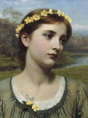 Spring Maiden, 1884 by Frank Bernard Dicksee