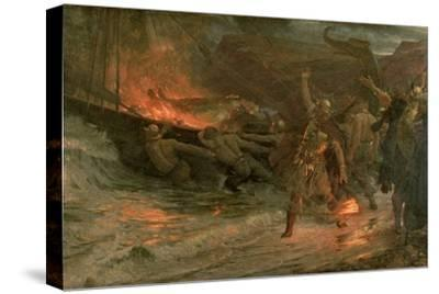The Funeral of a Viking, 1893 by Frank Bernard Dicksee