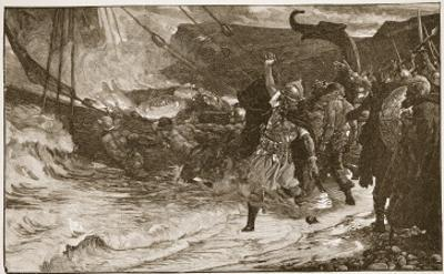 The Funeral of a Viking by Frank Bernard Dicksee