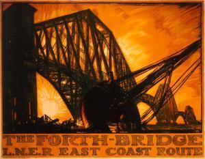 The Forth Bridge, LNER, c.1923-1947 by Frank Brangwyn