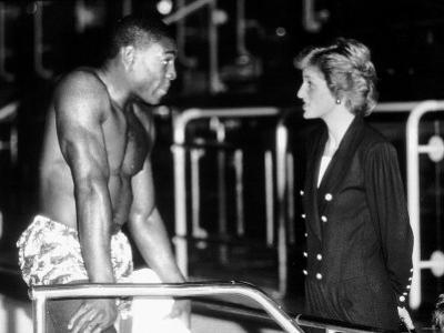 Frank Bruno Boxing Meets Diana Princess of Wales