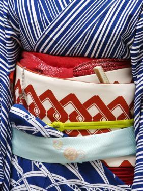Detail of a Geisha's Sash (Obi), Pontocho by Frank Carter