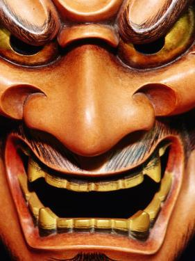 Detail of Noh Mask, Kyoto, Japan by Frank Carter