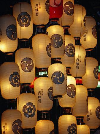 Festival Lanterns for Gion Matsuri, Kyoto, Kinki, Japan,