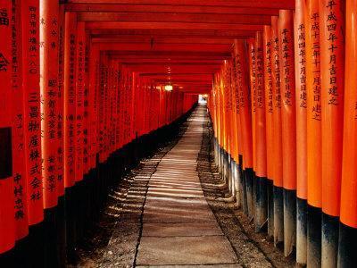 "Fushimi-Inari Taisha ""Torii Tunnels,"" Japan"