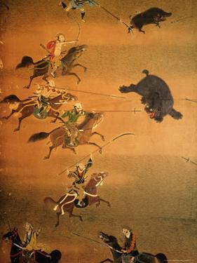 Hunting Scene Depicted on House Screen, Kyoto, Japan by Frank Carter