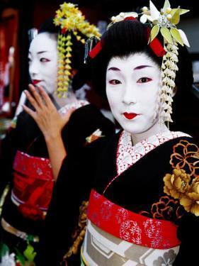 Two Geisha Near Kiyomizu-Dera, Kyoto, Japan by Frank Carter
