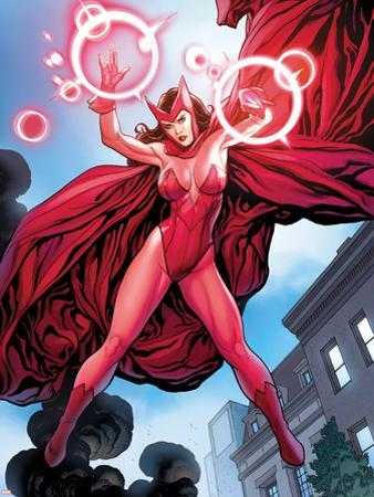 Avengers Vs. X-Men No.0: Scarlet Witch Flying with Energy by Frank Cho