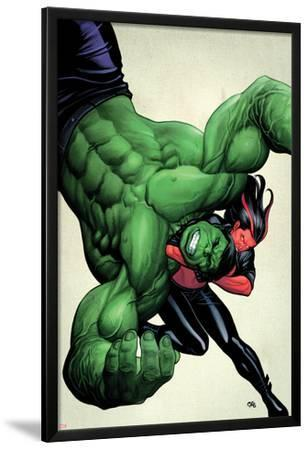 Incredible Hulks No.629 Cover: Hulk and Red She-Hulk Fighting by Frank Cho