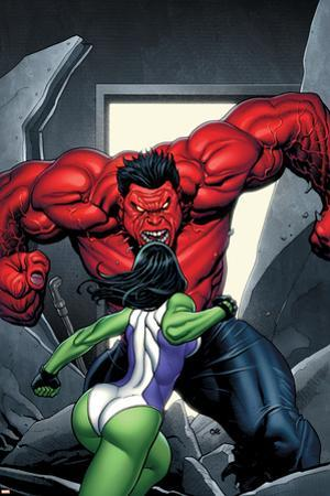 King Size Hulk No.1 Cover: She-Hulk and Rulk by Frank Cho