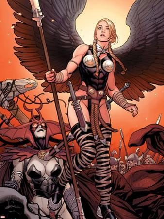 Ultimate New Ultimates No.4: Valkyrie and Hela Standing by Frank Cho