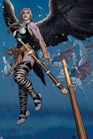 Ultimate New Ultimates No.5: Valkyrie in the Rain with a Sword by Frank Cho