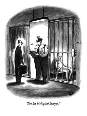 """""""I'm his biological lawyer."""" - New Yorker Cartoon by Frank Cotham"""