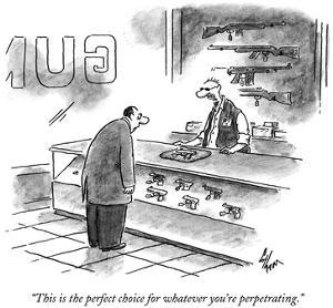 """""""This is the perfect choice for whatever you're perpetrating."""" - New Yorker Cartoon by Frank Cotham"""
