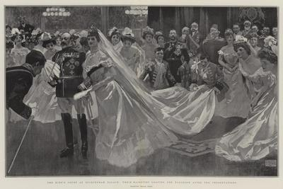 The King's Court at Buckingham Palace, their Majesties Leaving the Ballroom after the Presentations