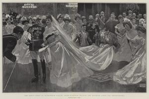 The King's Court at Buckingham Palace, their Majesties Leaving the Ballroom after the Presentations by Frank Craig