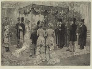 A Jewish Wedding, Marriage of Mr Leopold De Rothschild and Mademoiselle Marie Perugia by Frank Dadd