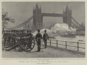 Firing the Salute at the Opening of the Bridge by Frank Dadd